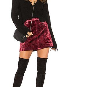 Blank NYC Velvet Mini Skirt